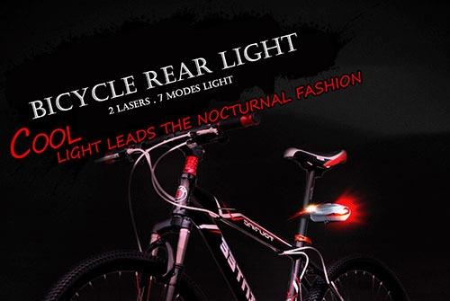 چراغ دوچرخه لیزری